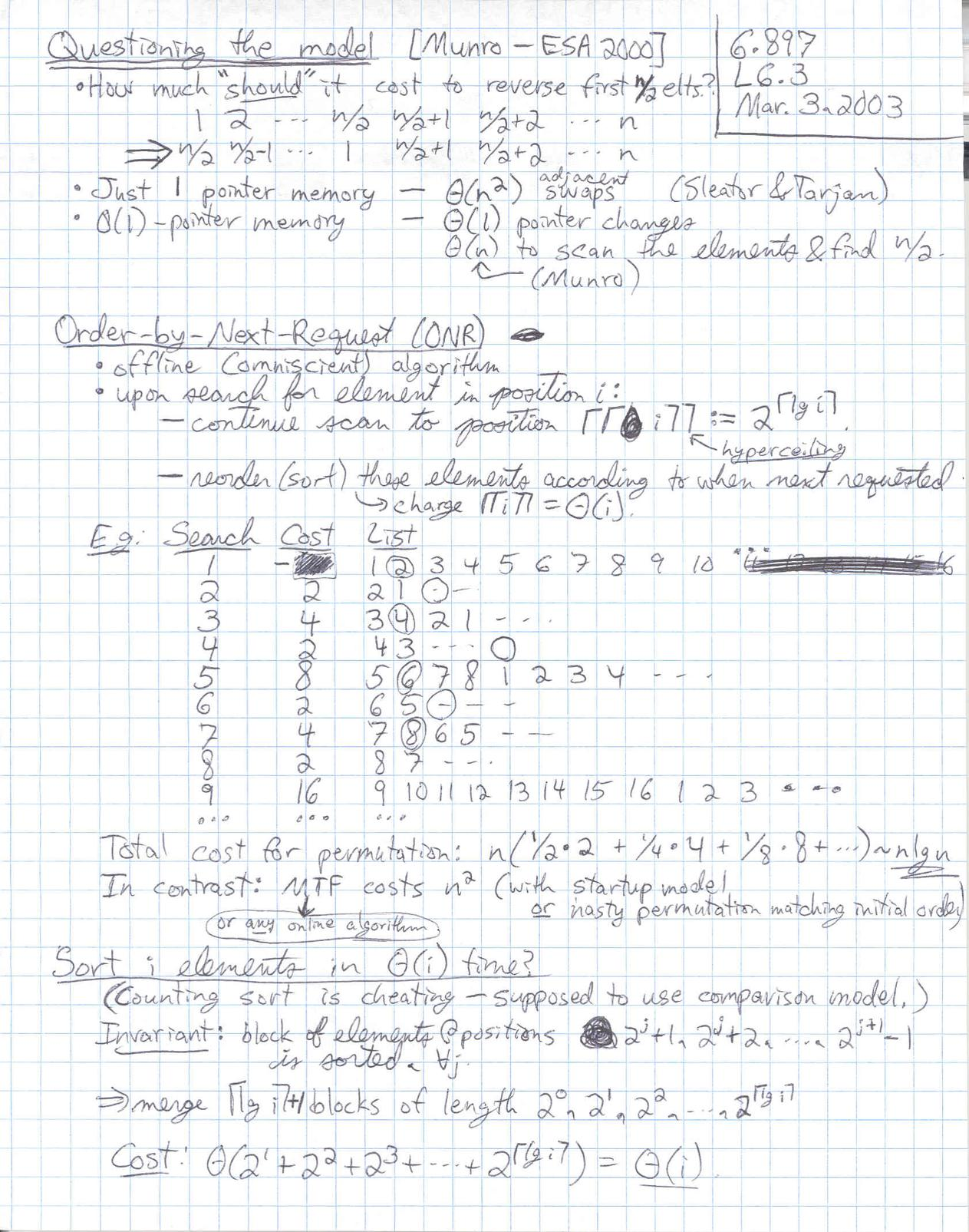 Lecture 6 page 3 at 150 DPI -- 6 897, Advanced Data Structures, Prof