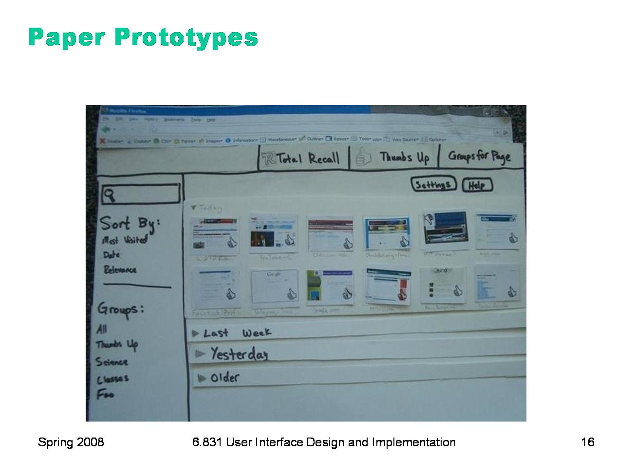 6.831 L10: Prototyping