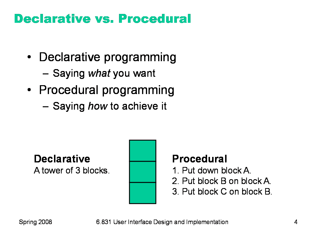 common declarative programming paradigms Declarative programming  common bahasa deklaratif termasuk  an umbrella term that includes a number of other programming paradigms: 1 functional programming.