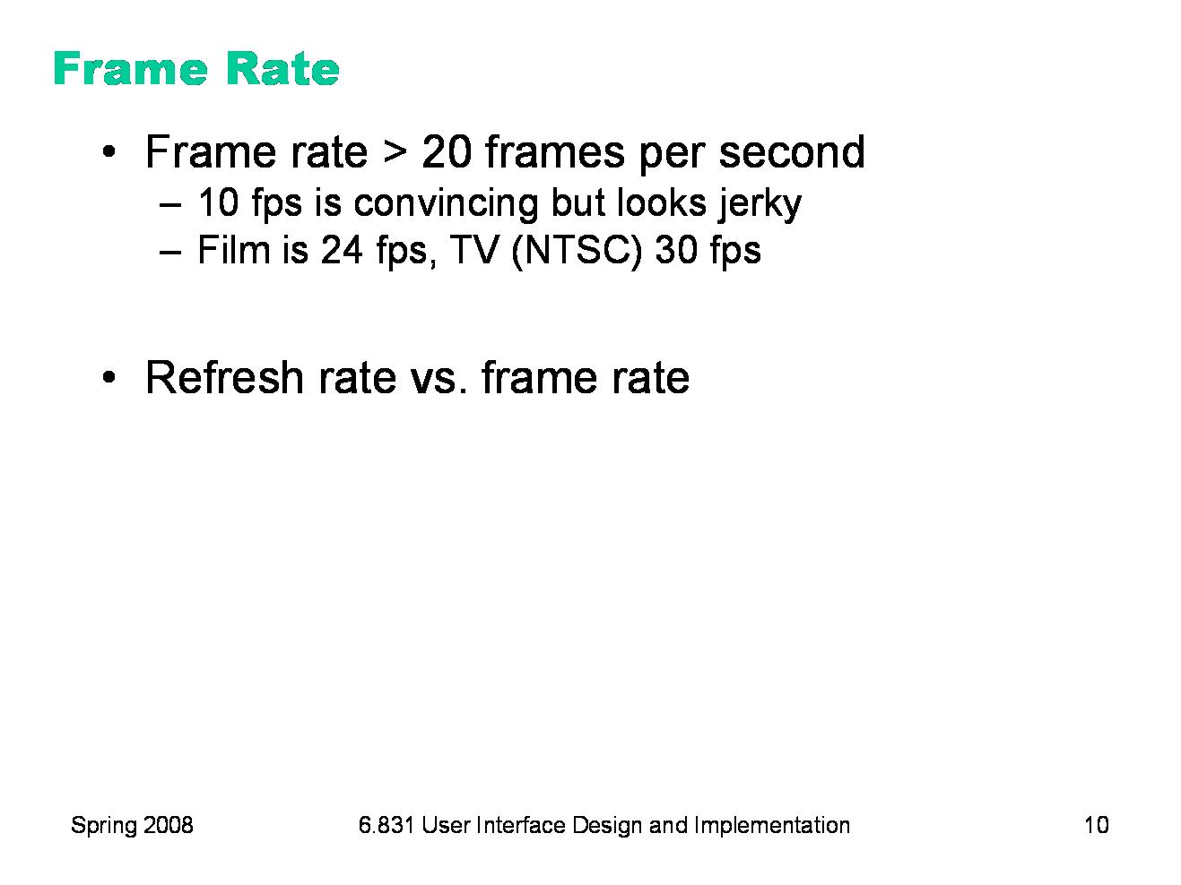 6.831 L26: Animation