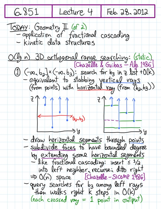 Lecture 4 in 6.851: Advanced Data Structures (Spring'12)