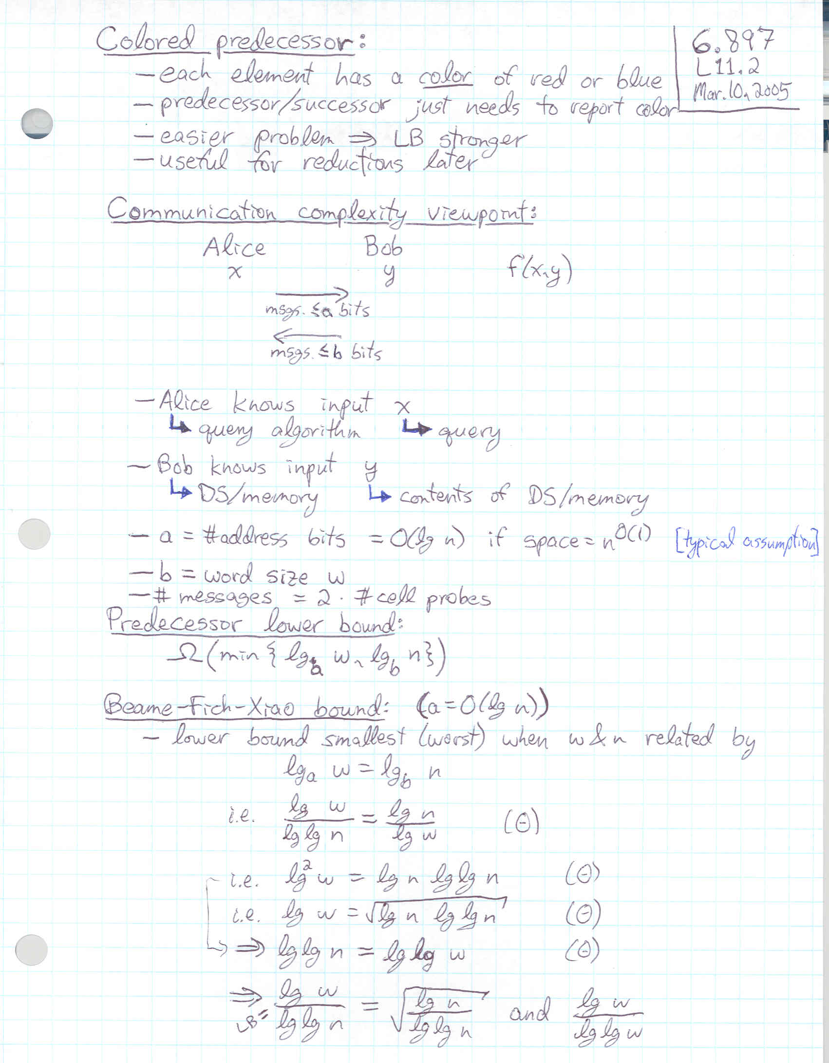 Lecture 11 page 2 at 200 DPI -- 6 897, Advanced Data